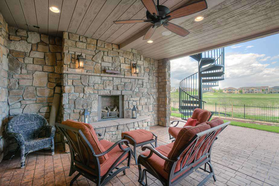 Outdoor Living with Trex and Wood Paneling and decks