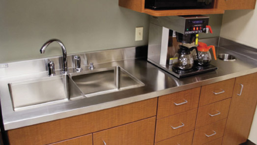 ... Grade Stainless Steel Counter Tops Feature Heavy Duty 16GA. Stainless  Fabrication, #4 Polish. Built To Withstand Heavy Residential/commercial  Use, ...